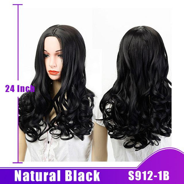 Long Wave Natural Hair Wig Synthetic Heat Resistant in 8 Shades - ICU SEXY