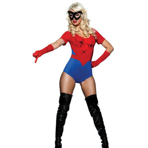 Shiny Red Spiderman Women's Adult Costume - icu-sexy
