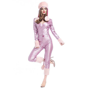 Women's Pink Luxurious Catwoman Outfit - icu-sexy