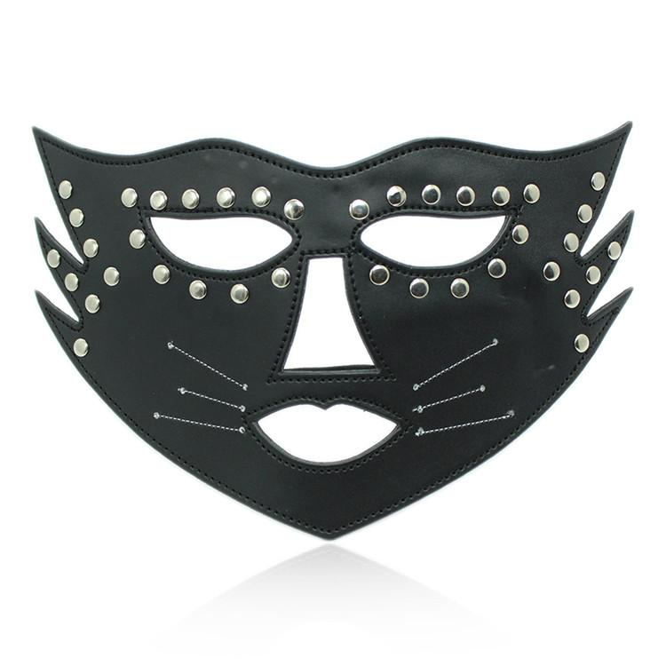 Fetish Fantasy Female Sexy PU Leather Studded Catwoman Masquerade - icu-sexy