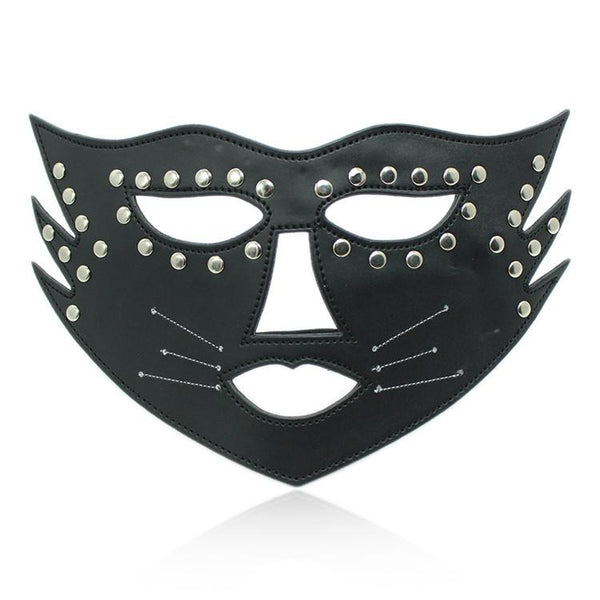 Fetish Fantasy Female Sexy PU Leather Studded Catwoman Masquerade - ICU SEXY