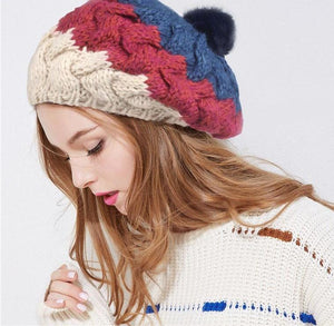 Women's Popular Thick Knitted Rabbit Fur Patriotic Style - icu-sexy