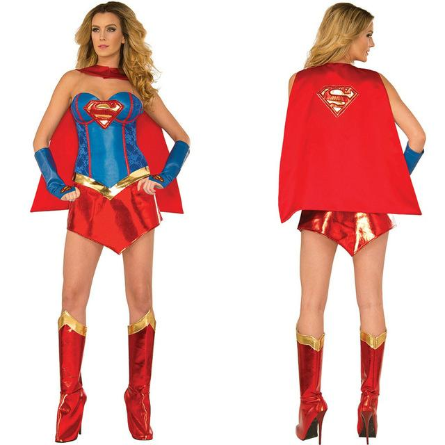 Women's Amazing Superman Costume Set - icu-sexy