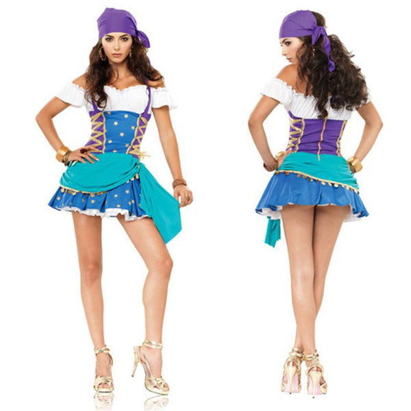 Women Sexy Captain Pirate Costume Halloween Outfit - ICU SEXY