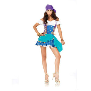 Women Sexy Captain Pirate Costume Halloween Outfit - icu-sexy