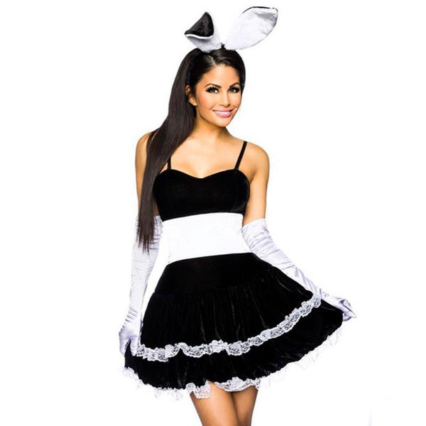 Hip Hop Black Bunny French Maid Black Costume - ICU SEXY