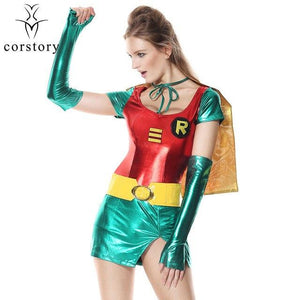 Women's Batman, Robin Heroine Costume - icu-sexy