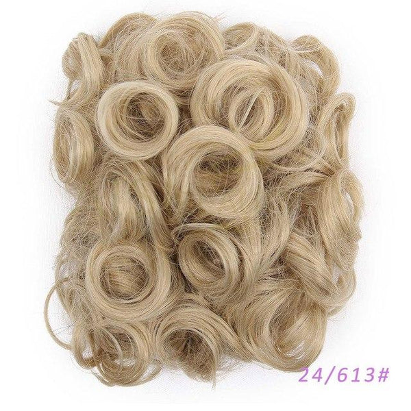 Synthetic Hair Big Bun Chignon Iron Comb Clips in Hair Extension Hairpiece in 5 Colors - icu-sexy