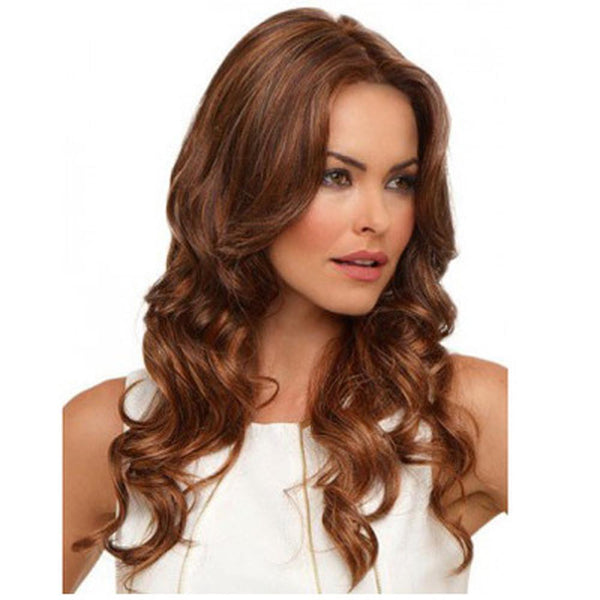 Layer Wavy Front medium Brown Heat Resistant Wig - icu-sexy