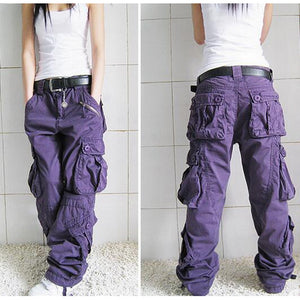 New Arrival Women's Hip Hop Loose Cargo Pants - icu-sexy