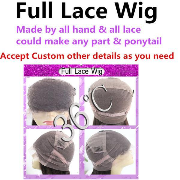 Full Frontal Lace Human Hair Wig Brazilian Remy Hair With Babyhair - icu-sexy