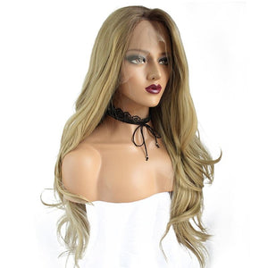 High Temperature Fiber 360 Frontal Lace Long Body Wave Full Hair Wig - icu-sexy