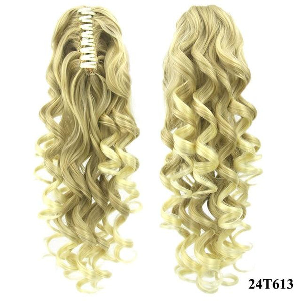 Women's Clip In Short Curly Claw Ponytail  High Temperature Hair Extension - icu-sexy