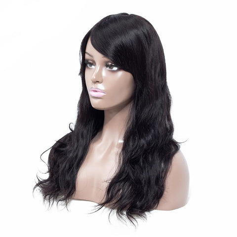 Pre Plucked Hairline Full Lace Long Human Hair Wig - icu-sexy