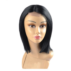 Shoulder Length Straight Lace Human Hair Wig Remy 150 density - icu-sexy