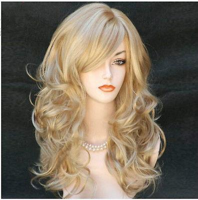 Long Wavy Blonde Wigs Sexy Ladies Heat Resistant Wig - icu-sexy