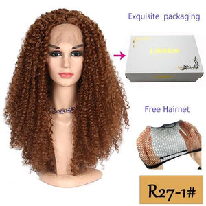26 Inch Lace Front Wig Long Kinky Curly Stylish Wigs in 4 Colors 130% Density - ICU SEXY