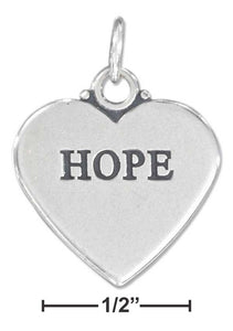 "Sterling Silver ""hope"" Affirmation Heart Charm - icu-sexy"