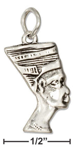 Sterling Silver Egyptian Queen Nefertiti Charm - icu-sexy