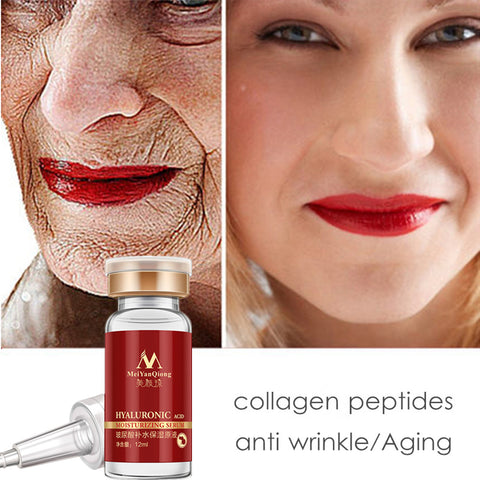 Hyaluronic Acid Face Serum Peptides Anti Wrinkle Anti Aging Moisturizing Serum - icu-sexy