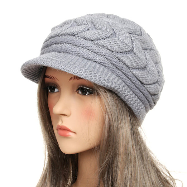 Women's New Style Knitted Rabbit Fur Cap - ICU SEXY