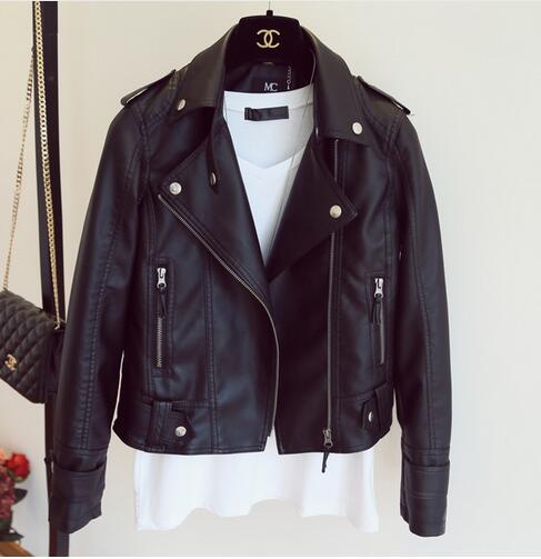 New Women's Designer Soft Leatherette Motorcycle Jacket - ICU SEXY
