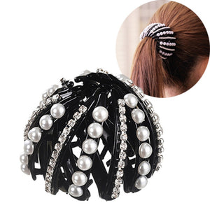 Pearl Hairpins Hair Claw  For Buns, Ponytails and Styling - icu-sexy