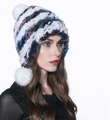 New Popular Russian Style Genuine Natural REX rabbit Fur Hat - ICU SEXY