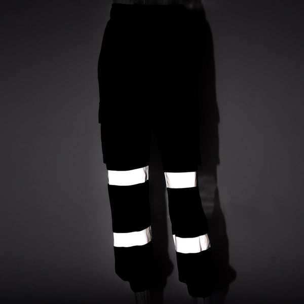 Women's Streetwear Reflective Hip Hop High Waist Cargo Pants - icu-sexy