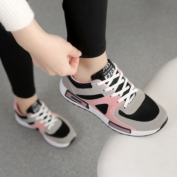 Women's Lace Up Fashion Sneakers - ICU SEXY