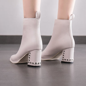 New Hot Style Fashion Women's Round Head Thick Bottom Boots - ICU SEXY