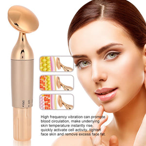 Ultrasonic Ion Facial Massager Skin Lifting Antiaging Spa Tool - ICU SEXY