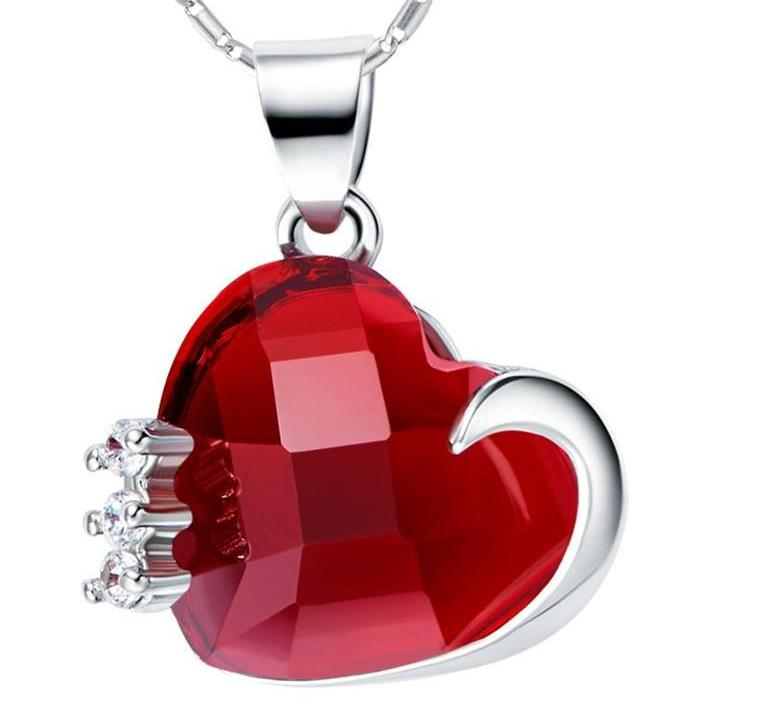 Love Statement Red Heart Pendant Necklace - ICU SEXY