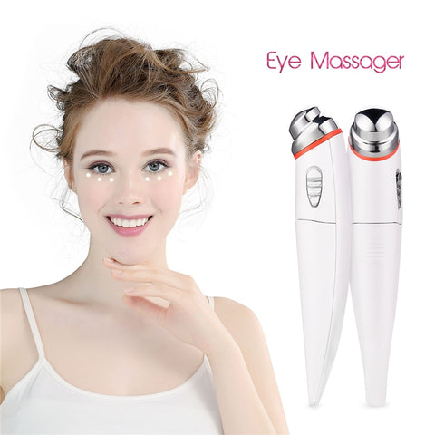 Microcurrent Eye Massager High Frequency Wrinkle Roller Electric Eye Massager - ICU SEXY