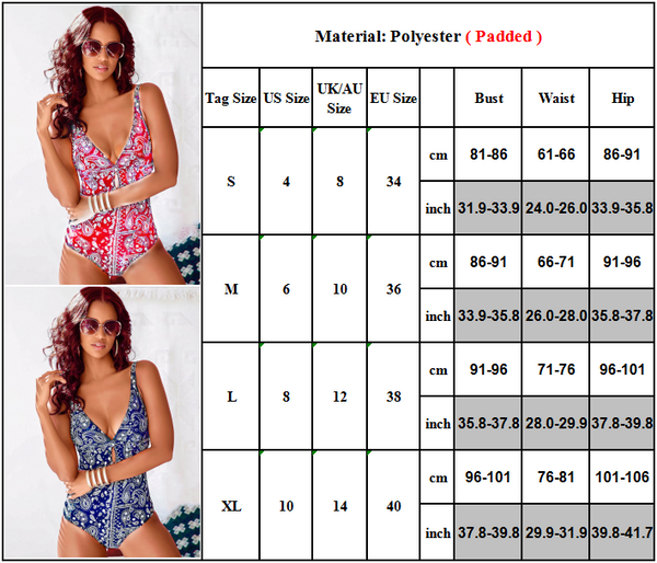 Women's One Piece Bohemian Print Fashion Swimsuit