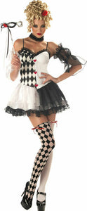 Women's Le Belle Harlequin Adult Halloween Masquerade Costume