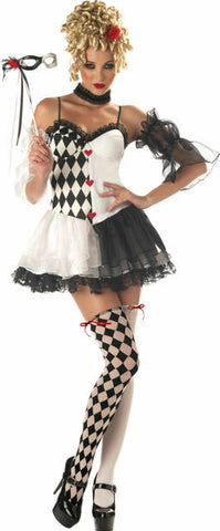 -Women's Le Belle Harlequin Adult Halloween Masquerade Costume