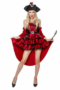 Female Adult Pirate Halloween Costume Cosplay Outfit