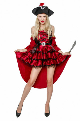 -Female Adult Pirate Halloween Costume Cosplay Outfit