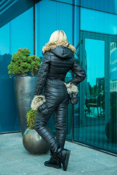 Women's Brand Fashion Hooded Ski Suit Snow Jumpsuit - ICU SEXY