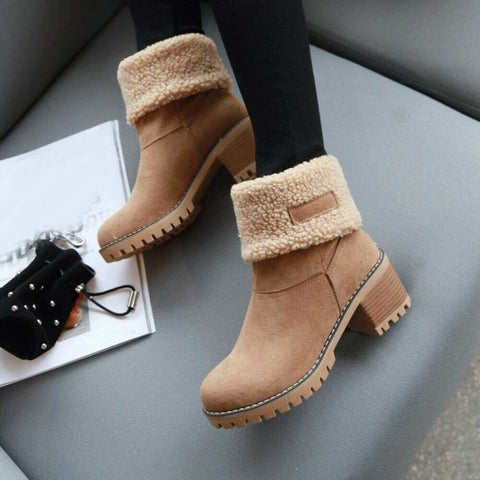 Women's Winter Thick Lined Ankle Fashion Boots