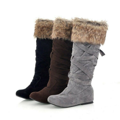 Women's Designer Style Warm Fur Lined Winter Fashion Boots