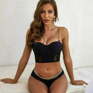 Women Bikini Set Bandage Lace Swimwear Beachwear Bathing Suit Summer Swimsuit