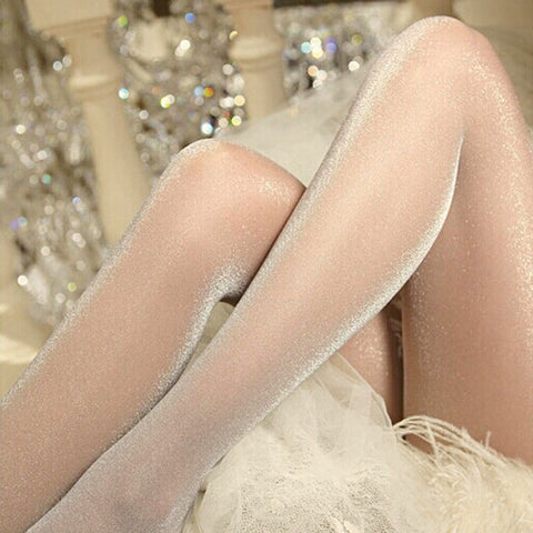 Women's popular Shiny Satin Pantyhose Stockings Size M