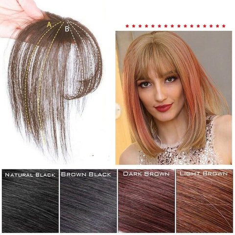 US Fashion 3D Mini Topper Air Bangs Synthetic Hair Extension