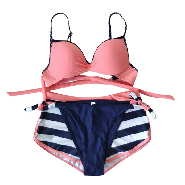 -Women's Padded Push-up Bra Bikini Set Swimsuit Bathing Suit Swimwear Beachwear