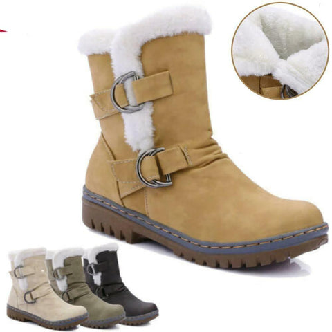 Women's High Quality Designer Fur Lined Ankle Snow Fashion Boots