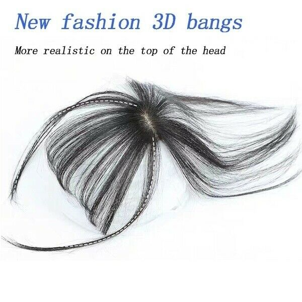 -US Fashion 3D Mini Topper Air Bangs Synthetic Hair Extension