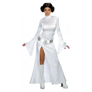 Deluxe Princess Leia Costume Adult Star Wars Halloween Costume Includes Wig