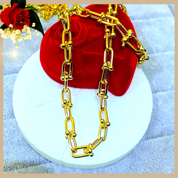 18K Real Gold hardware Chain 16""